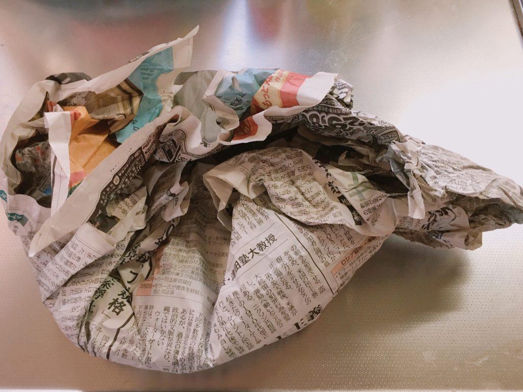 スキレット お手入れ 新聞紙